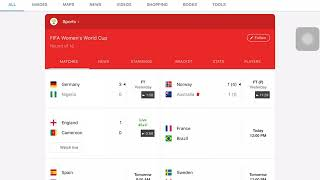 Yesterday's women's World Cup results