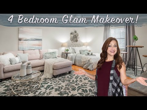 HOME STAGING BEFORE AND AFTER | New Orleans | Episode 12 | 4 Bedroom Modern Glam Decorating Makeover