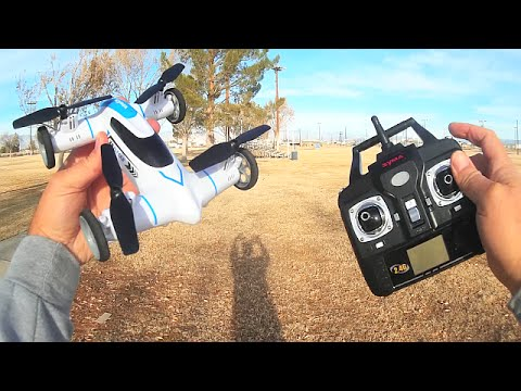 Syma X9 Flycar Drone Car Drive Flight Test Review - UC90A4JdsSoFm1Okfu0DHTuQ