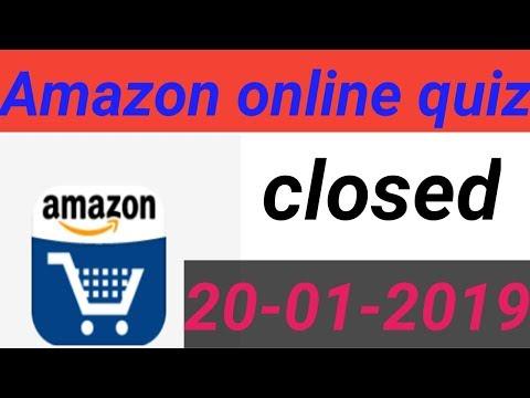 Amazon online quiz closed latest news