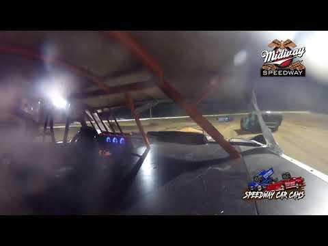 #4G Gary Tackitt - POWRi Super Stock - 6-26-2021 Midway Speedway - In Car Camera - dirt track racing video image