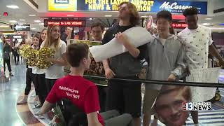 Local student receives surprise homecoming at McCarran Airport