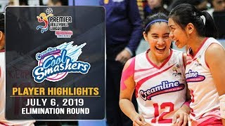 Jia Morado displays fine playmaking as Creamline heads to the Finals |  #PVL2019