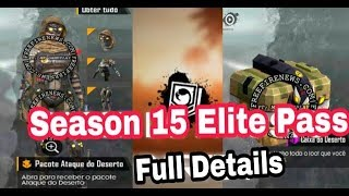 #Free Fire Season 15 Elite Pass Full Details and Full Review  