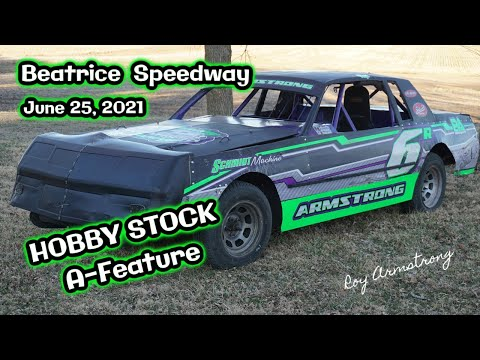06/25/2021 Beatrice SpeedwayHobby Stock A-Feature - dirt track racing video image