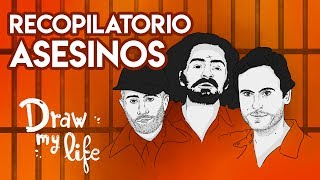 Los PEORES ASESINOS SERIALES: CHARLES MANSON, ED GEIN, LOCUSTA, TED BUNDY... | Draw My Life