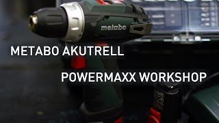 Metabo akutrell PowerMaxx workshop