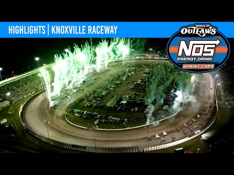 World of Outlaws NOS Energy Drink Sprint Cars Knoxville Raceway, August 14, 2021 | HIGHLIGHTS - dirt track racing video image