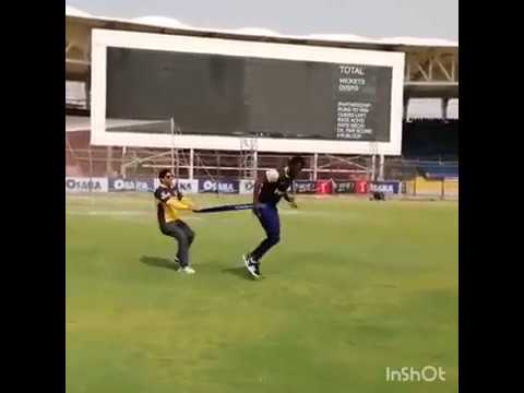 Daren Sammy During Training At National Stadium Karachi