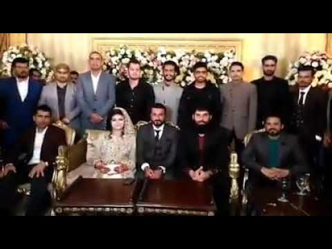 Coach Misbah-Ul-Haq & Other Pakistani Players Attended Bilawal Bhatti's Wedding Reception