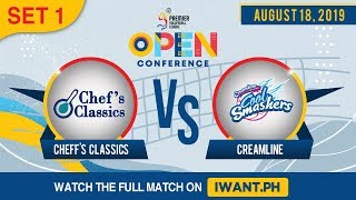 SET 1 | Creamline vs. PacificTown-Army | August 18, 2019 (Watch the full game on iWant.ph)