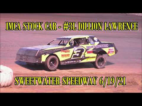 In Car - IMCA Stock Car - #3L Dillion Lawrence - Sweetwater Speedway 6/19/21 - dirt track racing video image