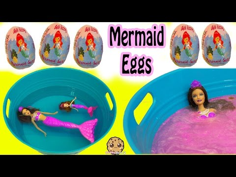 Bath Bomb Fizzy Mermaid Surprise Eggs In Water with Barbie Dolls In Mini Pool - UCelMeixAOTs2OQAAi9wU8-g