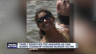 Family searches for answers as Van Buren Township honors murder victim