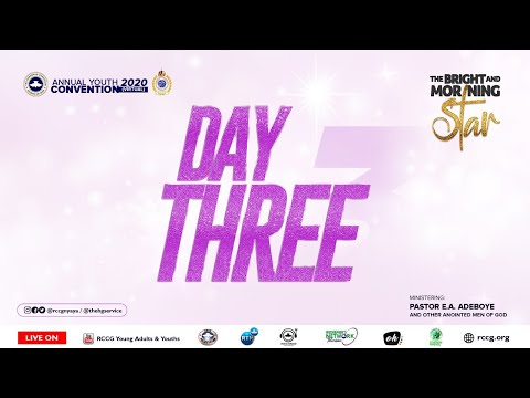 DAY 3 RCCG YOUTH CONVENTION 2020 - MORNING SESSION