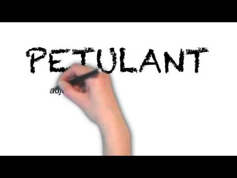 How to Pronounce 'PETULANT'- English Grammar