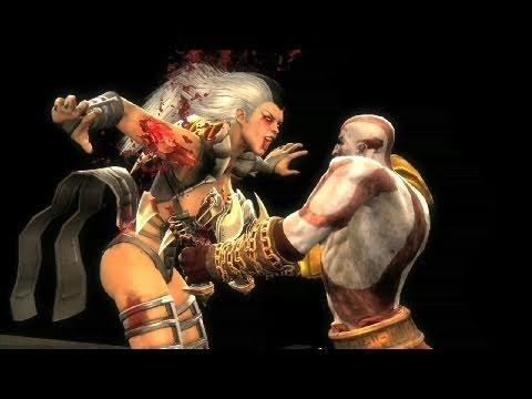 Mortal Kombat 9 - Kratos Gameplay Trailer (2011) MK9   HD