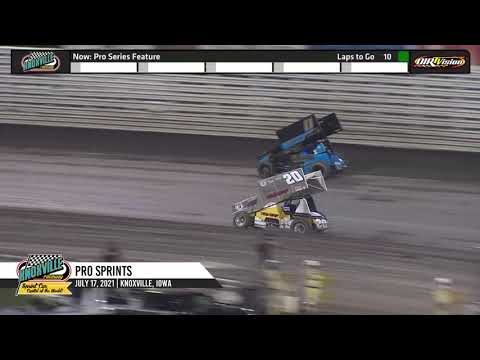 Knoxville Raceway - Pace Pro Sprints Highlights - July 17, 2021 - dirt track racing video image