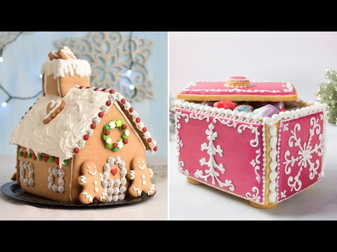 SIMPLE GINGERBREAD HOUSE |Collaboration with @SweetAmbsCookies |