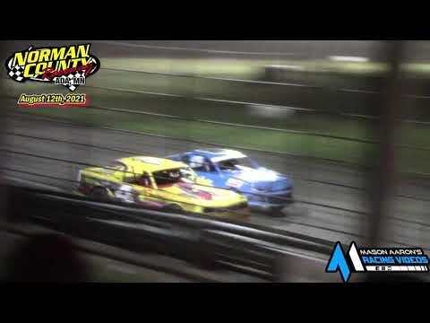 Norman County Raceway IMCA Stock Car A-Main (8/12/21) - dirt track racing video image