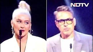 Robert Downey Jr & Christina Aguilera Honoured As Disney Legends