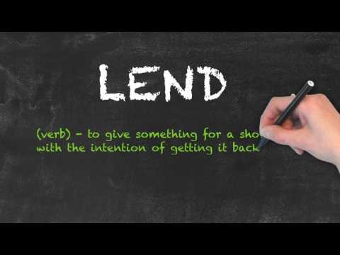 Borrow vs Lend - English Grammar - Teaching Tips