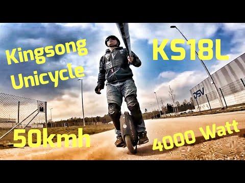 Kingsong KS18L 2000/4000 Watt 50kmh Unicycle - erste Fahrt - UCskYwx-1-Tl5vQEZ0cVaeyQ