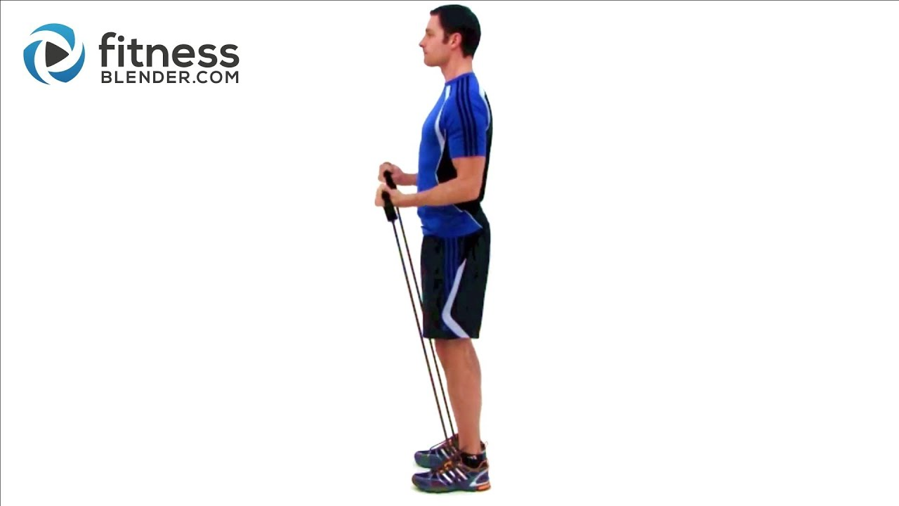 Bicep & Tricep Super Set Workout – Resistance Band Exercises