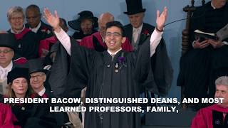 Latin Salutatory Kabir Gandhi | Harvard Commencement 2019