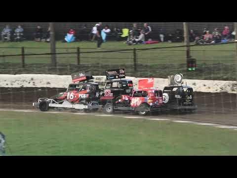 Stockcars  Group 2 Wanganui Race 1 - dirt track racing video image