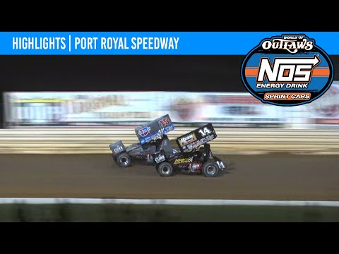 World of Outlaws NOS Energy Drink Sprint Cars Port Royal Speedway, October 8, 2021 | HIGHLIGHTS - dirt track racing video image