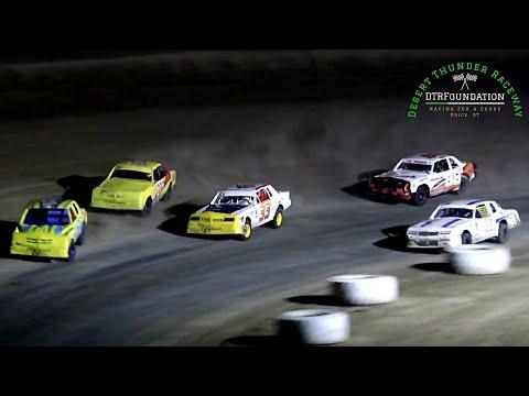 Desert Thunder Raceway IMCA Hobby Stock Main Event 8/6/21 - dirt track racing video image
