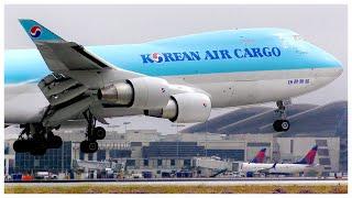[4K] KOREAN AIR CARGO BOEING 747-4B5F(ER) LAX ARRIVAL - PLANE SPOTTING - JULY 2019