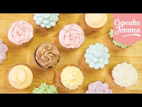 Buttercream Piping Tips & Techniques | Cupcake Jemma