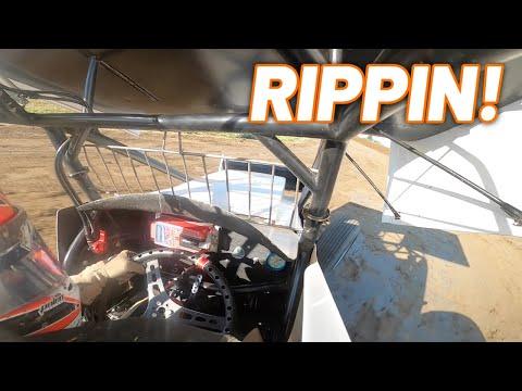 Tanner Holmes 410 Sprint Car Qualifying at Waynesfield Raceway Park! (Ohio Speedweek) - dirt track racing video image