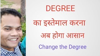 # change the degree  English Rule# positive, comparative and superlative degree