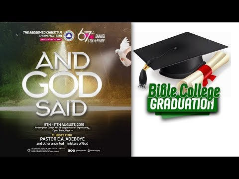 DAY 3 RCCG HOLY GHOST CONVENTION 2019 - BIBLE COLLEGE GRADUATION