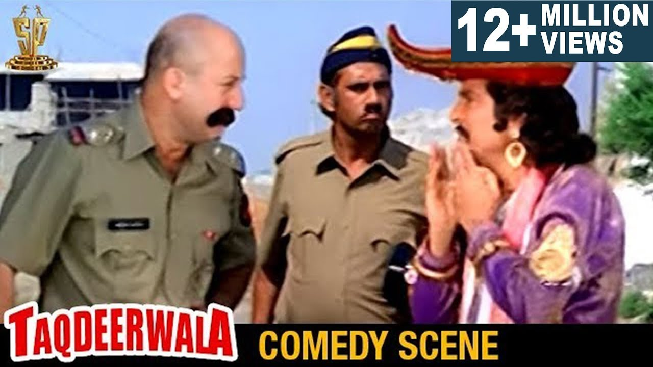 Anupam Kher And Asrani Hilarious Comedy Scene L Taqdeerwala Hindi