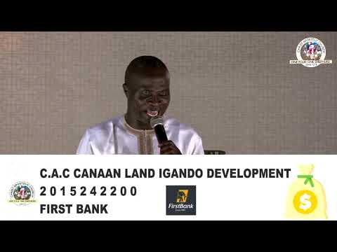 C.A.C CANAAN LAND IGANDO DISTRICT HQ (ANNUAL 7 DAYS PROPHETIC REVIVAL)  DAY 5  13TH NOVEMBER, 2020