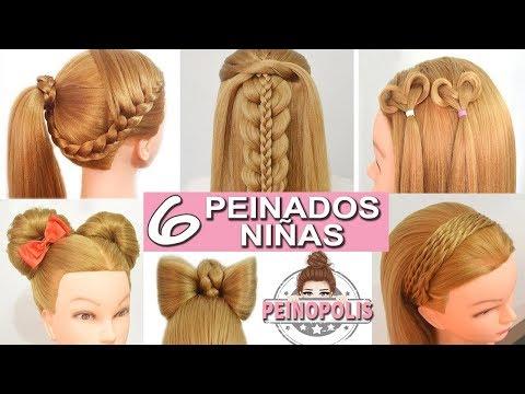 Youtube 6 Peinados Faciles Y Rapidos De Ninas Con Cabello Largo