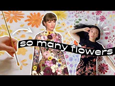 I painted 300+ flowers to make THAT dress (ft. withwendy)
