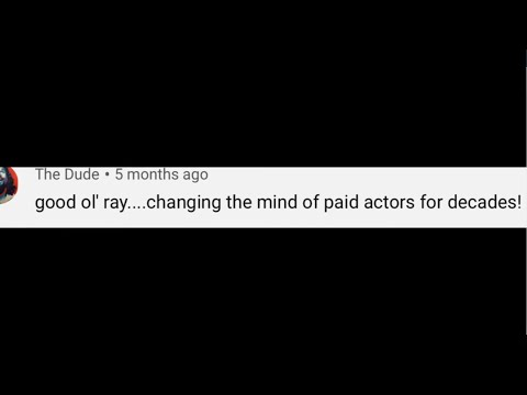 Has Ray Comfort used paid actors before?