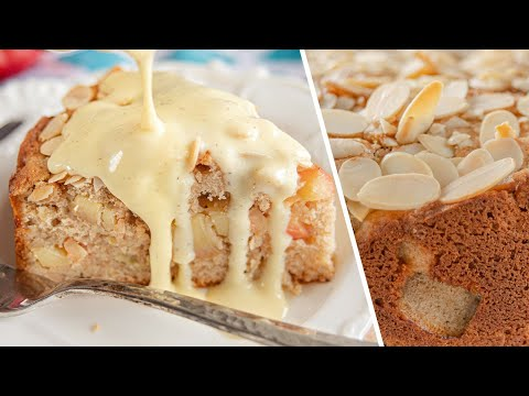 ЯБЛОЧНЫЙ ПИРОГ c ванильным кремом соусом | ирландский кекс с яблоками 🍎 Irish Apple Cake Recipe
