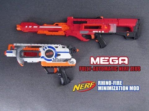 PDK FILMS Commission [Full-Auto Nerf Mega Zeus & Rhino-Fire Pistol Modification]