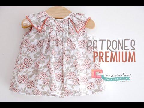 Blusa de tablas para niñas  (talla 3 meses a 5 años)