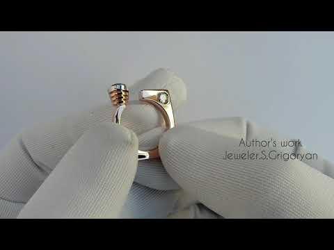 Женское Кольцо из золото 585 пробы полностью ручной работы (Ювелирное Дело) photo