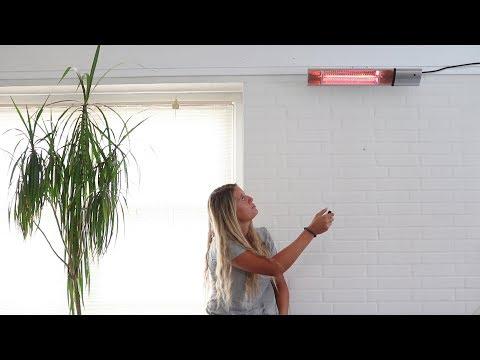 Sådan virker infrarød terrassevarmer 211-352 fra Hortus.