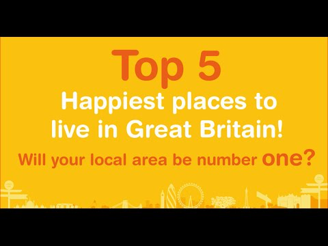 Top Five Happiest Places To Live In Great Britain