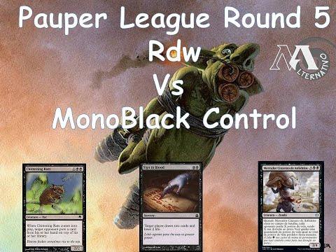 O novo meta Feat. Carvs / Pauper League R5 Rdw Vs Monoblack