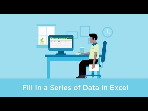 Fill in a series of data in Excel